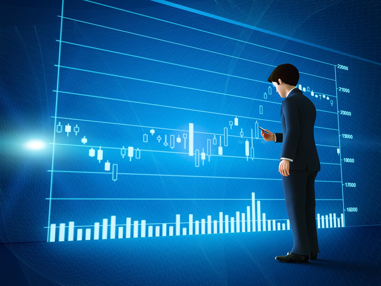 株式市場と男性