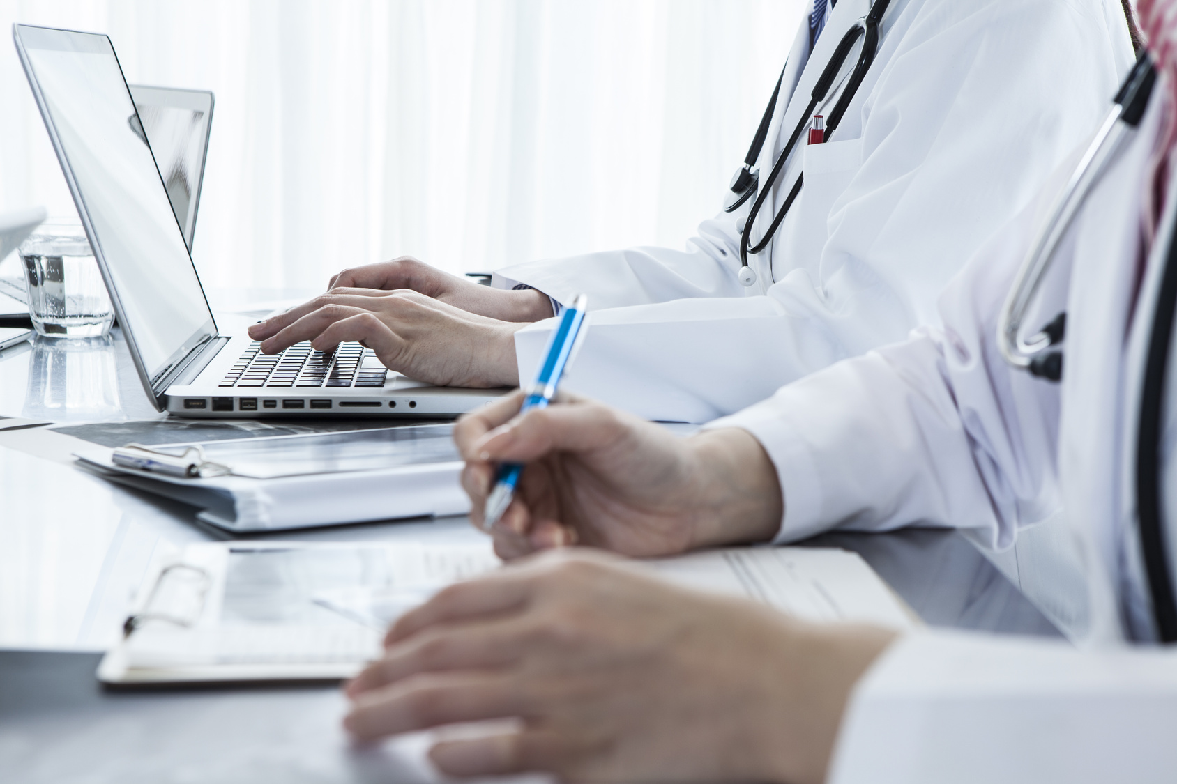 Woman doctor wrote a medical record