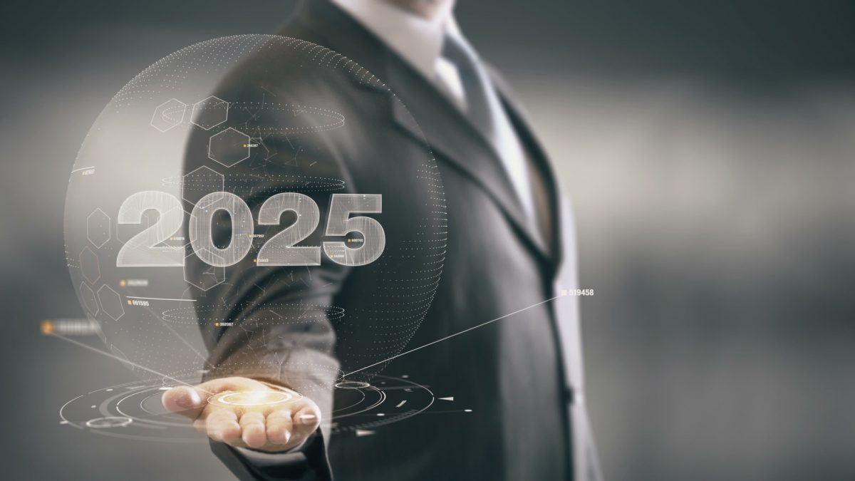 2025 Businessman Holding in Hand New technologies