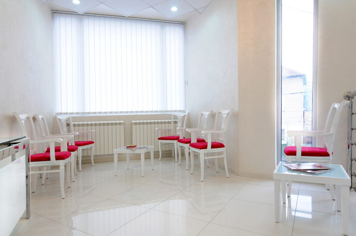 Clinical interior or reception - waiting room
