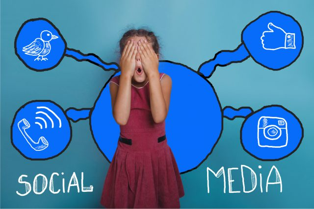 social media network  infographics set sketch teen she closed he