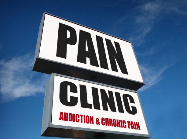 chronic pain clinic sign