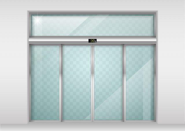 Sliding glass automatic doors