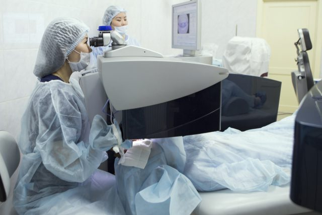 Laser surgery for vision correction